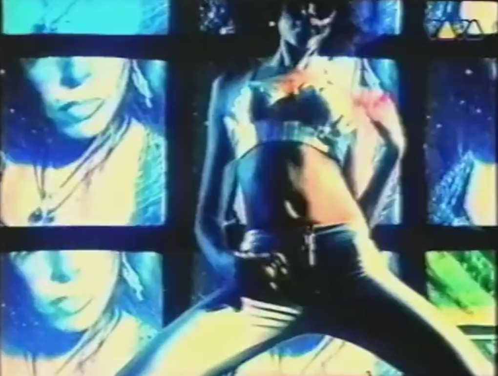 s-express the return trip video - girl in front of tvs