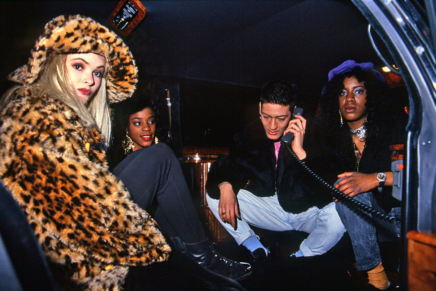 Mark Moore and S-Express in a limo