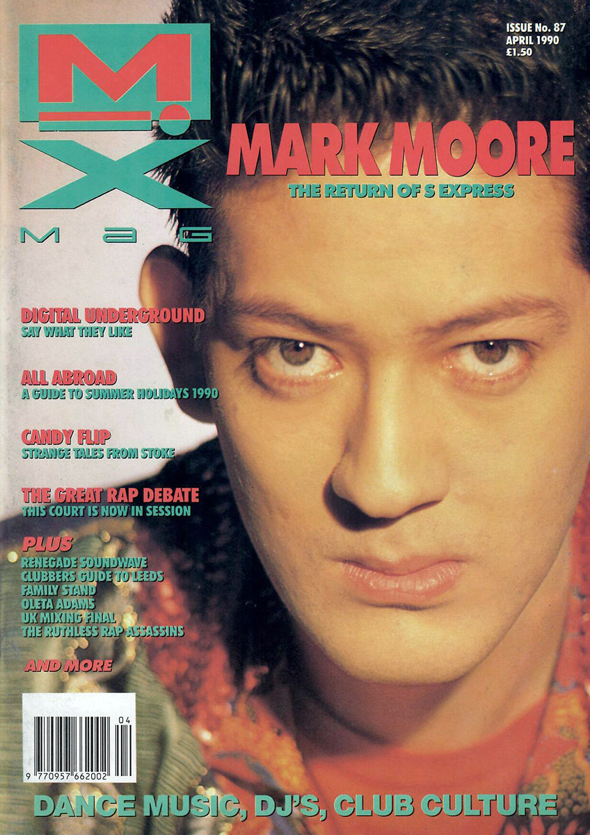 Mark Moore S'Express on the cover of Mixmag
