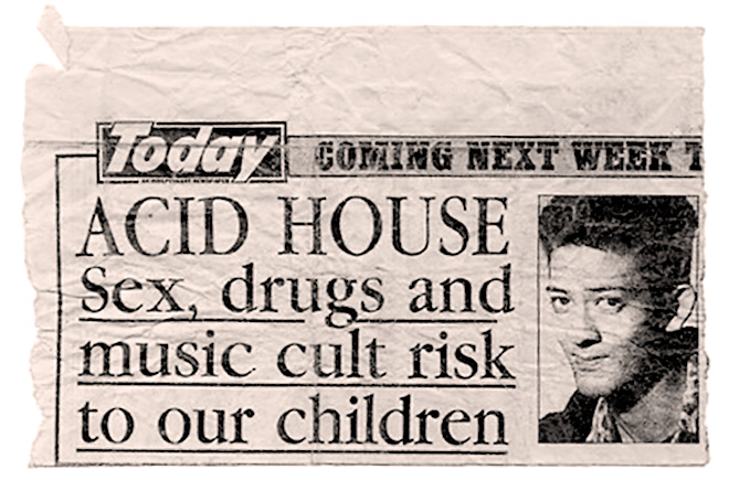 Mark Moore S'Express Acid House sex drugs music cult in Today newspaper