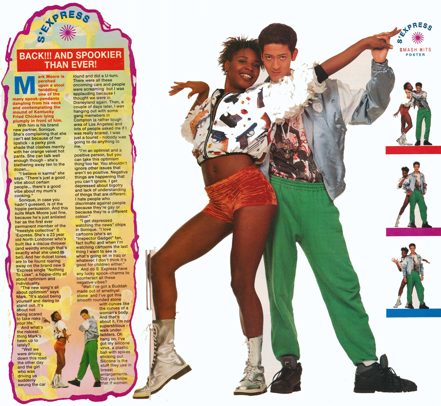 Mark Moore S'Express Smash Hits 1990 with Sonique