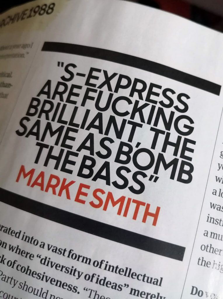 the fall mark e smith s'express mark moore quote ultimate music guide