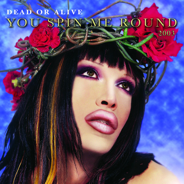 Dead Or Alive Pete Burns with roses in hair