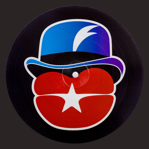 unklejam stereo logo red lips and blue hat